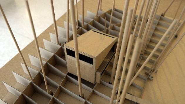 Hlavní cenu v soutěži Grand Prix architektů 2015 získala chata u jezera v Doksech postavená podle návrhu Pavla Nasadila a Jana Horkého ze studia FAM. Na snímku je model chaty.
