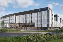 Nemocnice, kteoru v Bratislavě na Borech staví společnost Penta