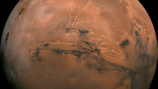 Planeta Mars - Planeta Mars na snímku NASA