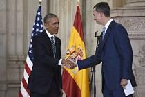 Americký prezident Barack Obama se dnes v Madridu sešel s králem Felipem VI., kterého ujistil o nadstandardních vztazích mezi Spojenými státy a Španělskem.