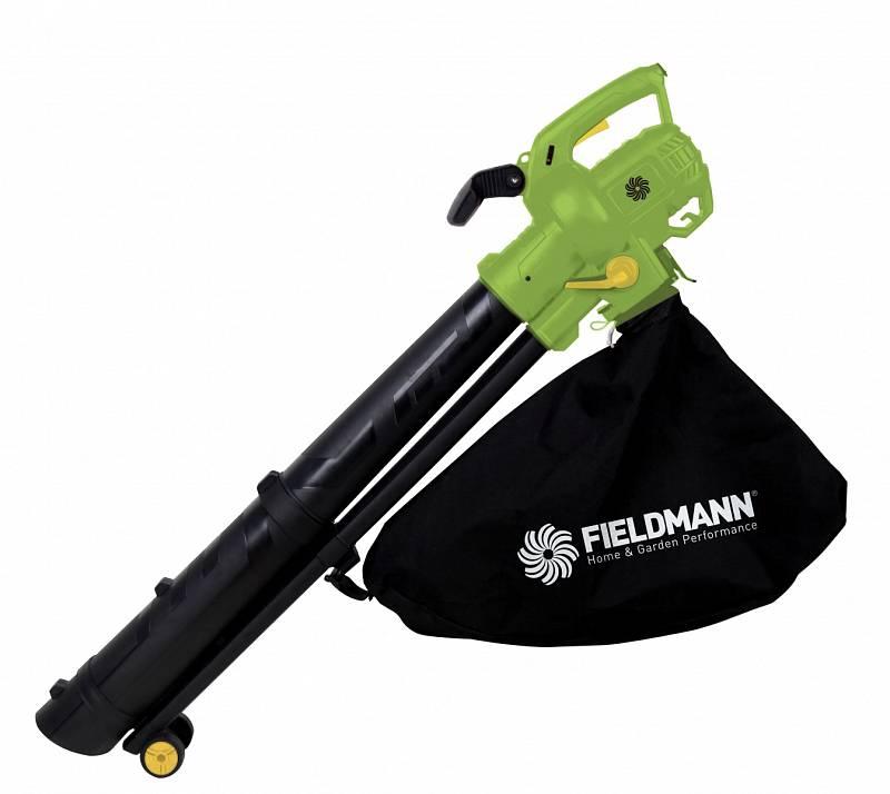 Výkonný zahradní vysavač a fukar Fieldmann FZF 4030-E, 990 Kč. Je vybaven účinným ocelovým drtičem, který si poradí i stuhým listím ořešáku