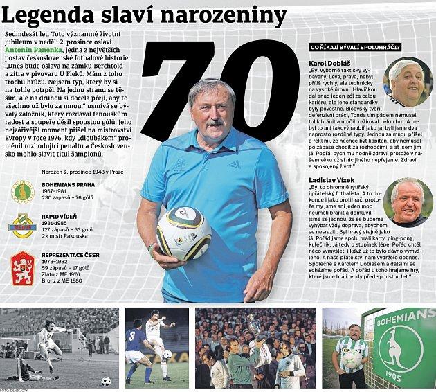 Antonín Panenka slaví 70.