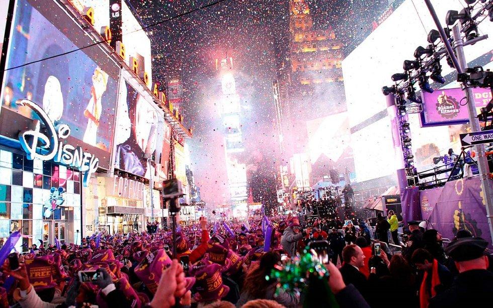 Novoroční oslavy v New Yorku