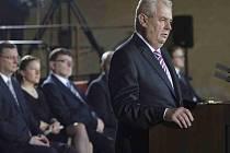 Miloš Zeman při inauguračním projevu