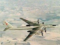 Ruský bombardér Tu 95.