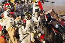 Bitvu tří císařů rekonstruovali 3. prosince nadšenci z klubů vojenské historie nedaleko Slavkova u Brna. Francouzský císař Napoleon zde před 211 lety porazil početnější rakouské a ruské šiky