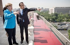 Angela Merkelová s Li Kche-čchiangem