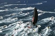 Jachta Wild Oats IX na trati 64. ročníku závodu Sydney - Hobart.