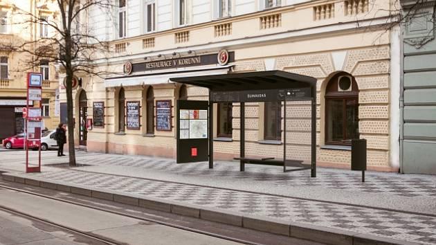 Nové přístřešky pro pražskou MHD.