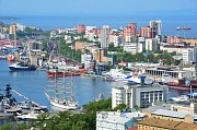 Přístav v ruském Vladivostoku