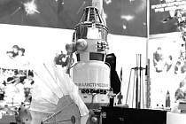 Model sovětské sondy z řady Veněra, ke které patřila i neúspěšná sonda Kosmos 482