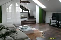 Stavební spoření použito na částečnou rekonstrukci půdy,vzniklo nádherné bydlení.