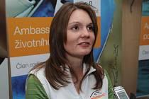 Olympijská vítězka střelkyně Kateřina Emmons.