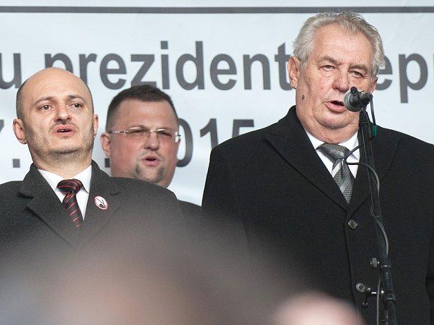 Martin Kovnička a Miloš Zeman