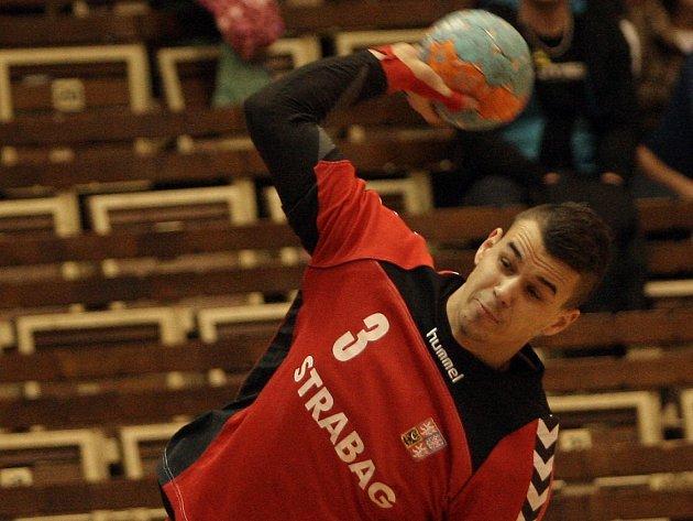 Roman Bečvář v dresu národního týmu.