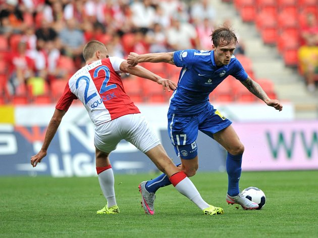 Slavia - Liberec: Tomáš Souček a Milan Kerbr