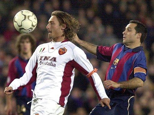 Sergi Barjuán (vpravo) ještě jako aktivní hráč