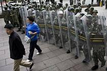 Čínská policie. Ilustrační snímek