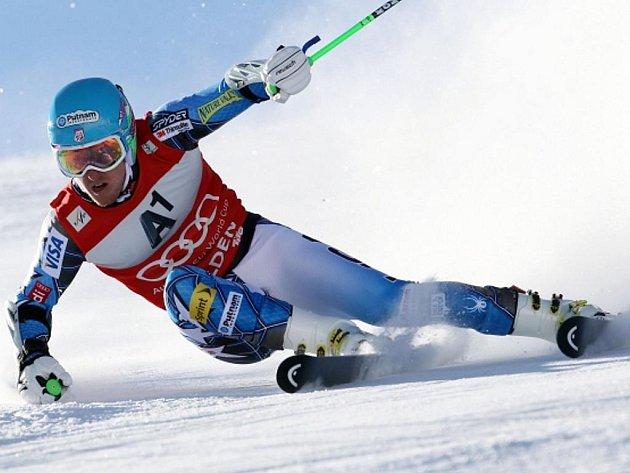 Ted Ligety ovládl obří slalom v Söldenu.