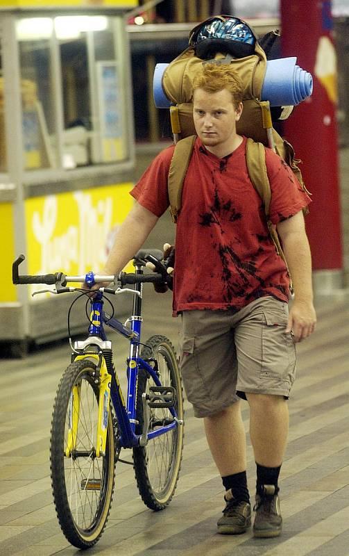 Cykloturista, nádraží