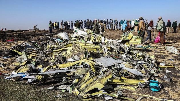 Trosky boeingu 737 Max 8 etiopských aerolinek