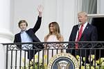 Barron, Melania, Donald Trumpovi