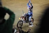 """FMX Gladiator Games 2008 Praha - vítězný Petr """"Pilnílk"""" Pilát."""