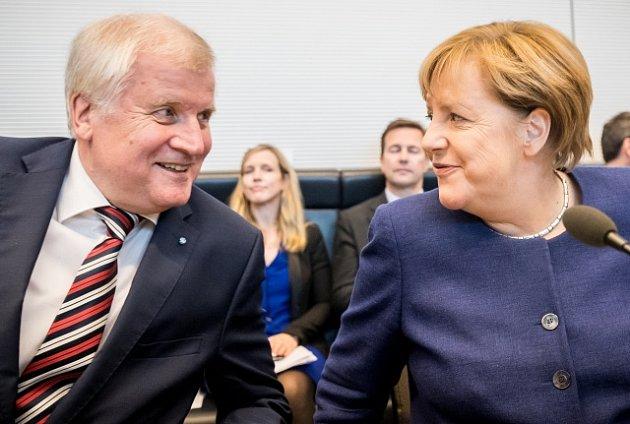 Horst Seehofer a Angela Merkelová, ilustrační foto