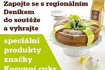 Zapojte se s regionálním  Deníkem do soutěže a vyhrajte speciální produkty značky Korunní cukr.