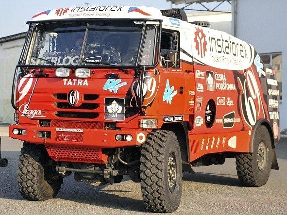 Aleš Loprais dělal 20. listopadu ve Frenštátě pod Radhoštěm poslední technické přípravy a zkoušky na svém speciálu Tatra 815 2 ZO R45 12.400 4x4.1 Dakar 2013 - Princezna 69 před odjezdem do peruánské Limy na Rallye Dakar.