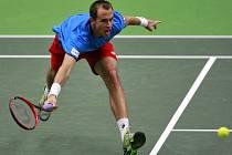 Lukáš Rosol v Davis Cupu proti Austrálii.