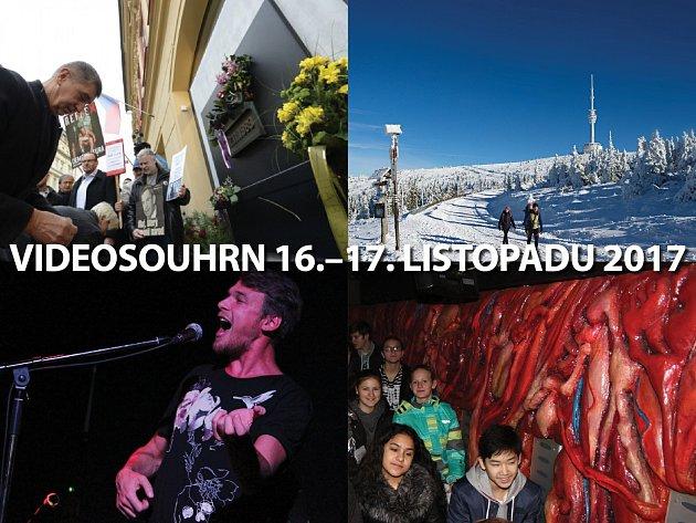 Videosouhrn Deníku – 16.–17. listopadu 2017
