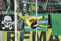 Bohemians 1905 právě vstřelili jediný gól v duelu s Příbramí.