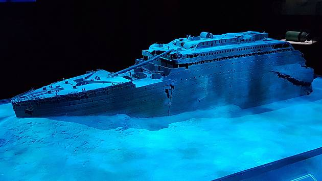 Výstava o Titaniku v Brně v roce rok 2018.