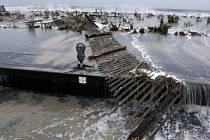 Hurikán Sandy napáchal obrovské škody.