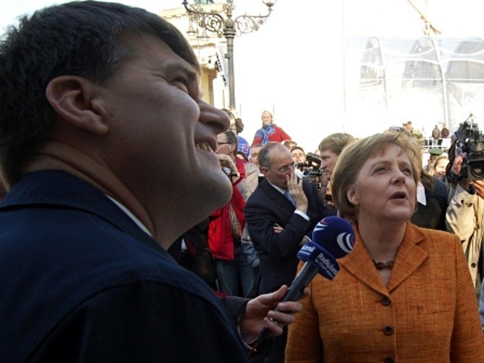 Německá kancléřka Angela Merkelová a český velvyslanec v Německu Rudolf Jindrák.