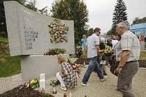Památník obětem železničního neštěstí ve Studénce.