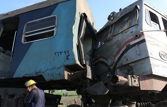 Železniční srážka v egyptské Alexandrii