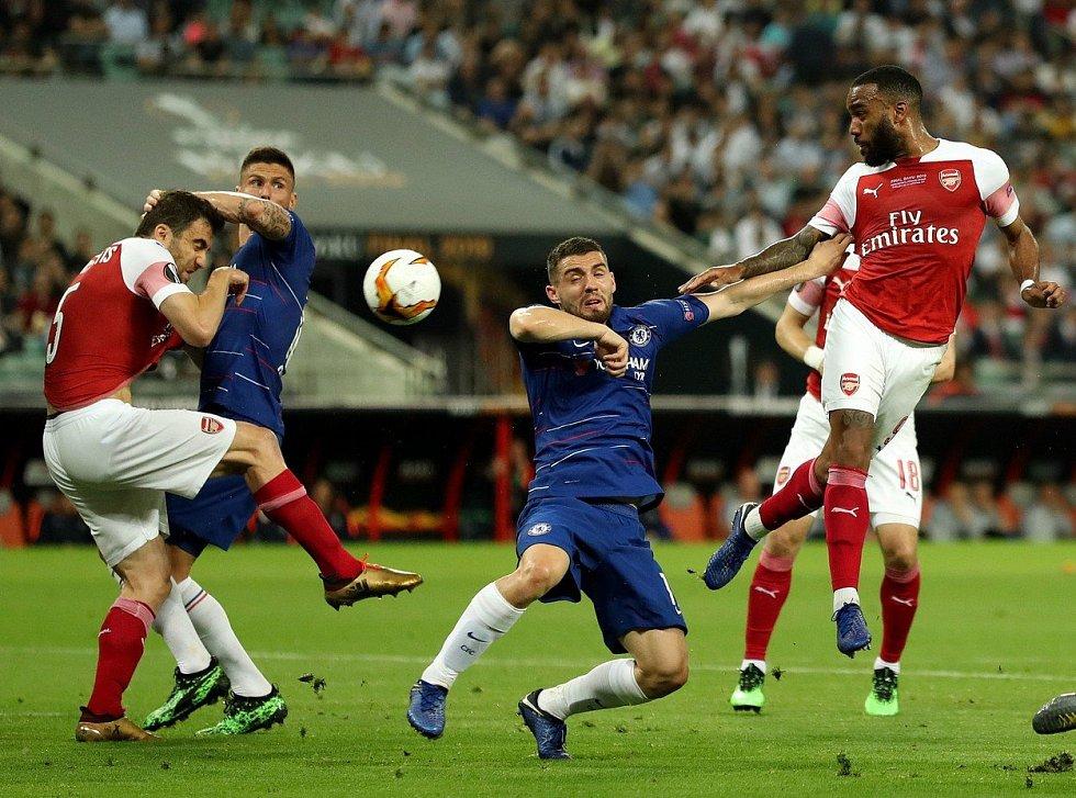 Finále Evropské ligy mezi Chelsea a Arsenalem