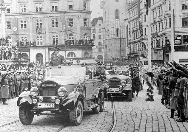 Adolf Hitler v Brně v březnu 1939.