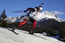 Norský biatlonista Sturla Holm Laegreid
