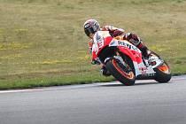 Závodník MotoGP Marc Márquez při testech v Brně.