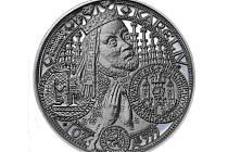 Medaile s motivem Nového města pražského.