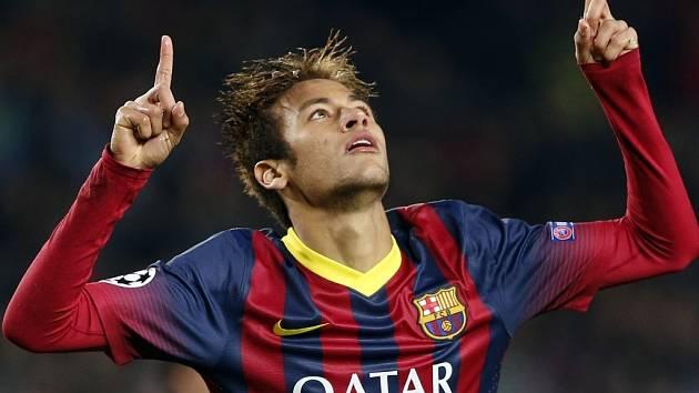 Neymar a jeho radost z gólu