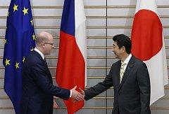 Bohuslav Sobotka a japonský premiér Šinzó Abe
