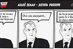 Prezidentské volby - komiks - Miloš Zeman - Jistota postupu