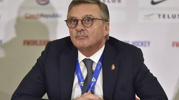 Prezident IIHF René Fasel.