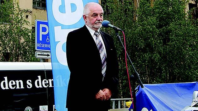 O problémech Tanvaldu hovořil starosta Petr Polák.