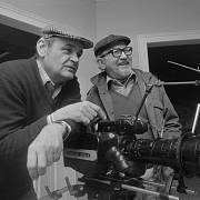 S Milošem Macourkem během natáčení pokračování Arabely.