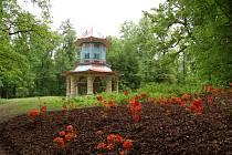 Jeden z altánů ve vlašimském parku